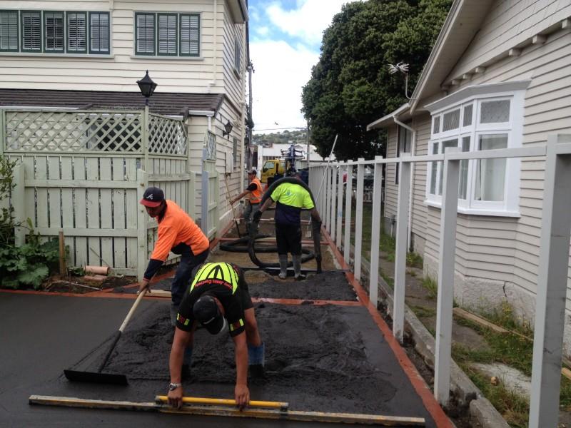 Residential Concrete placement Wellington